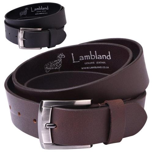"Lambland Mens Luxury Leather 40mm 1.5"" Plain Belt"