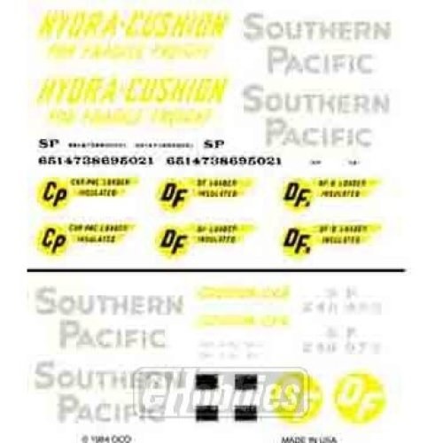 Southern Pacific Box Cars Dry Transfer Decals Woodland Scenics