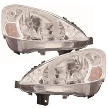 Peugeot Partner 7/2008-6/2012 Headlights Lamps Chrome Inner 1 Pair O/s & N/s