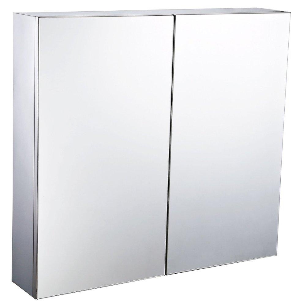 Homcom Bathroom Storage Cabinet Double Doors On Onbuy