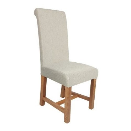Ashton Solid Oak and Upholstered Chair - Assembled