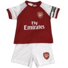 Official Arsenal Baby Core Kit T-shirt & Shorts Set - 2017/18 Season (9-12 - -  arsenal baby core tshirt shorts set 201718 season