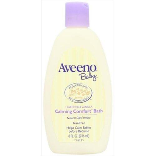 Aveeno Baby Calming Comfort Baby Bath, Lavender and Vanilla, 8 Oz.