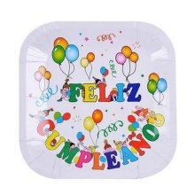 Birthday Party Paper Plates Disposable Dinnerware Picnic Plates,No.1