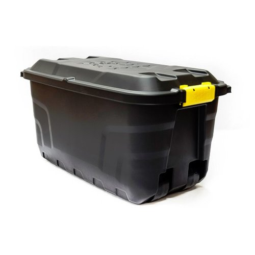 Strata 75 Litre Heavy Duty Plastic Smart Box Trunk Lid with Clip Lock