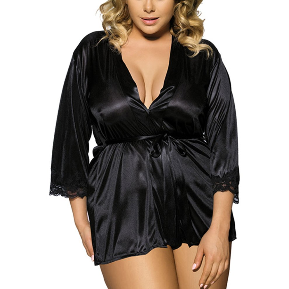 ... Ulily Womens Sexy Night Robe Mini Kimono Gown - 3.   1feacc40a7