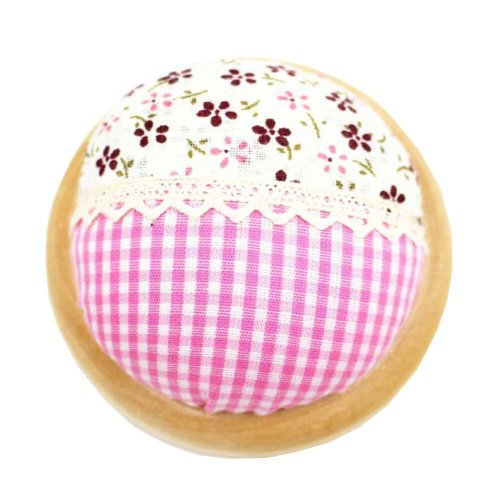 Set of 2 Pin Cushions for Sewing with Wood Base - 09