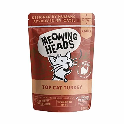 Meowing Heads Top Turkey Wet Cat Food, 100 g, Pack of 10