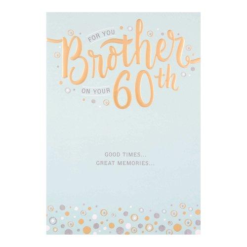 Hallmark Brother 60th Birthday Card Great Memories