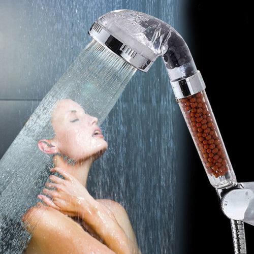Shower Heads Super High Pressure Boosting Low Bath Water Saving Health Filter