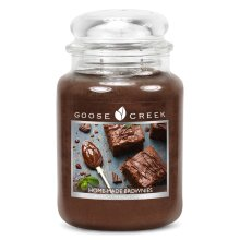 Goose Creek 24oz Large Scented 2 Wick Candle Jar Home Made Brownie