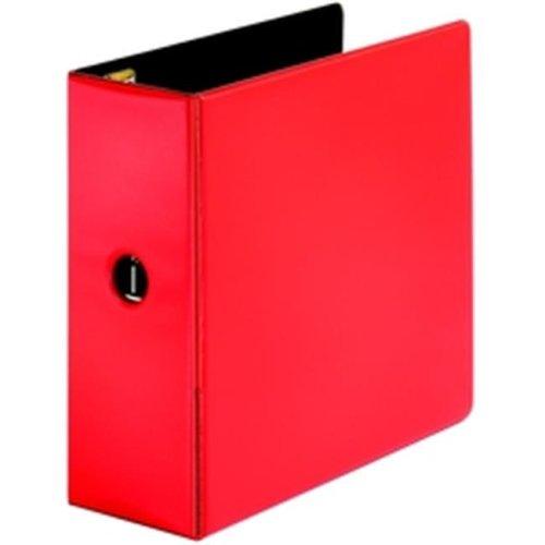 Premier EasyOpen Locking Slant-D Ring Binder, 5 in , Red
