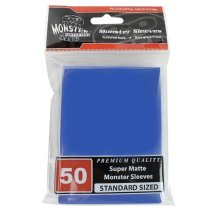 Sleeves - Monster Protector Sleeves - Standard Size Super Matte - BLUE (Fits MTG Magic the Gathering and Other Standard Sized Gaming Cards)