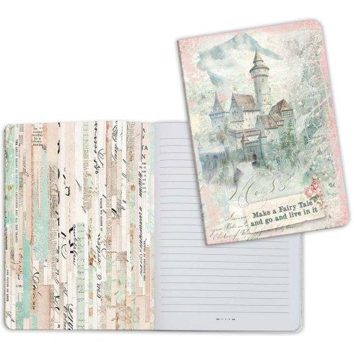 Stamperia Lined Notebook A5-Fantasy Castle, Wonderland
