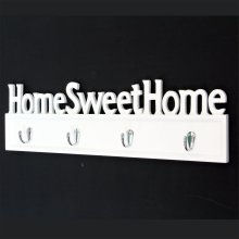 Home Sweet Home Wall Plaque with Hooks