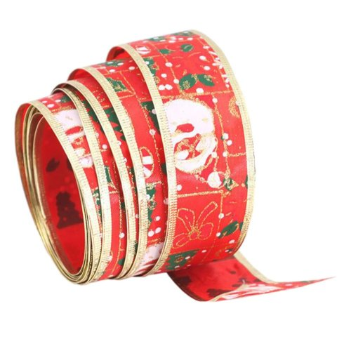 Ribbon for Christmas Gift Wrapping Colorful Christmas Tree Decor [Red]
