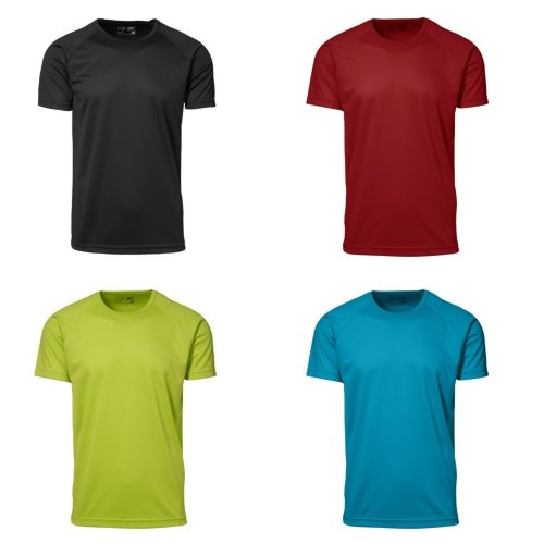 ID Mens Game Active Fitted Short Sleeve Sport T-Shirt