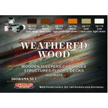 LifeColor Weathered Wood set (22ml x 6)