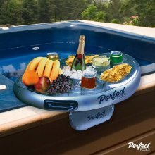 Perfect Pools Spa Bar | Inflatable Hot Tub Tray for Drinks & Snacks