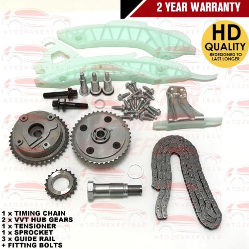 FOR BMW MINI ONE COOPER COOPER S PACEMAN TIMING CHAIN KIT + VVT HUB GEARS