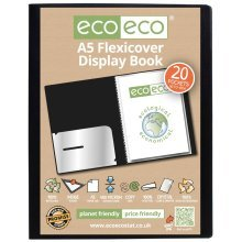 1 x A5 Flexicover 20pkt (40 Views) Presentation Display Book - Black