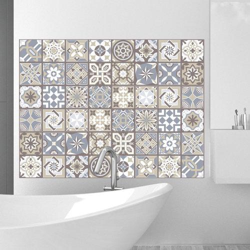 Walplus Tile Limestone Wall Sticker Decal (Size: 20m x 20cm @ 12pcs)