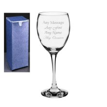 Personalised Engraved Wine Glass Wedding Bridesmaid Birthday 21st Gift