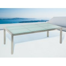 Garden Table - Outdoor Dining Table - Tempered Glass - 8 Seater - GROSSETO