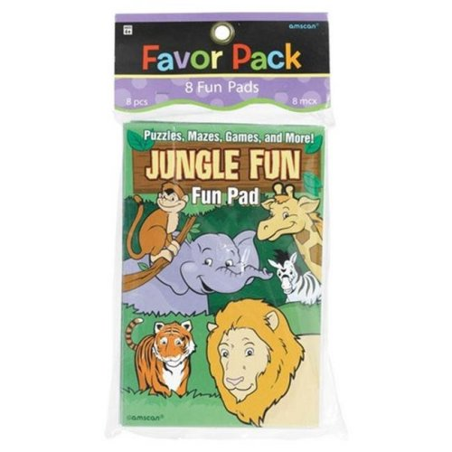 Amscan 390897 Jungle Animals Fun Pads - Pack of 48