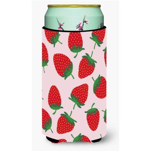 Carolines Treasures BB5146TBC Strawberries on Pink Tall Boy Beverage Insulator Hugger
