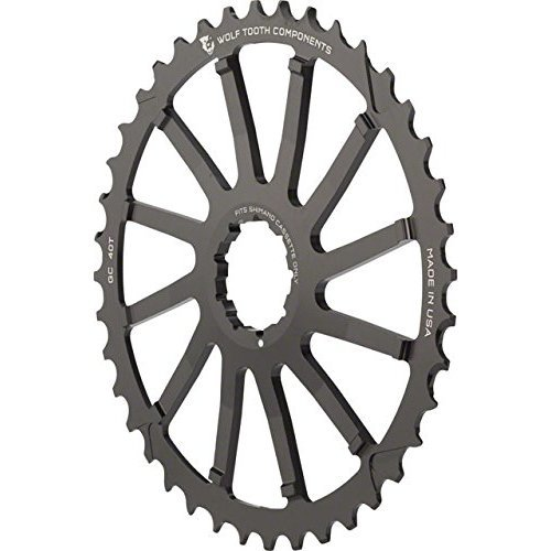 Wolf Tooth Components Giant Cog for Shimano Black 40T