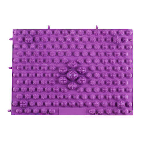 TPE Acupressure Foot Massage Mat Shiatsu Pressure Slab Toe Pad Purple