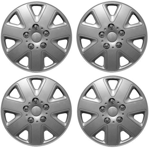 "Streetwize Hurricane Car Wheel Trim Set 13"" Silver Set Of 4 Hub Caps Covers"