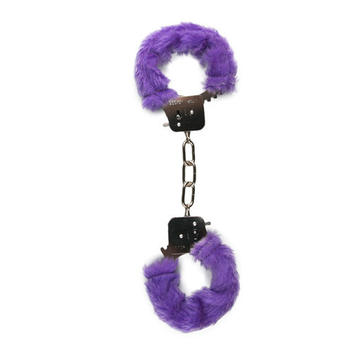 Furry Handcuffs - Purple  BDSM Hand cuffs - Easytoys Fetish Collection