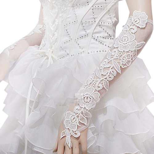 Bridal Wedding Gloves Party Dress Lace Long Gloves A10