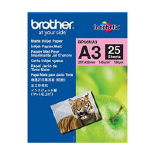 Brother BP60MA3 Inkjet Paper A3 (297×420 mm) Matte White printing paper