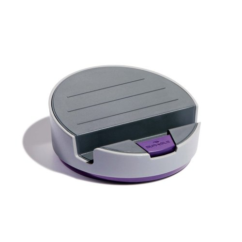 Durable 761112 VARICOLOR Tablet Base for Any Make and Model with 360 Degrees Rotation - Grey/Purple