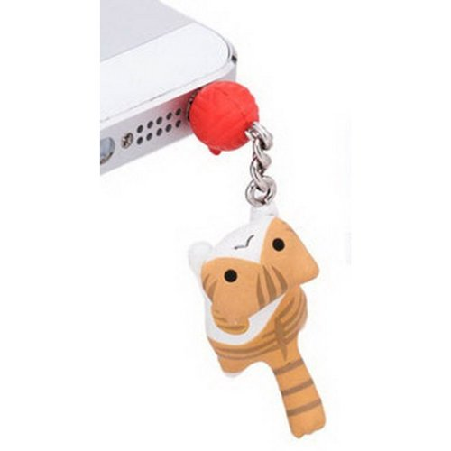 2 Pcs 3.5mm Cell Phone Universal Dust Plug Cell Accessories TAWNY Cat