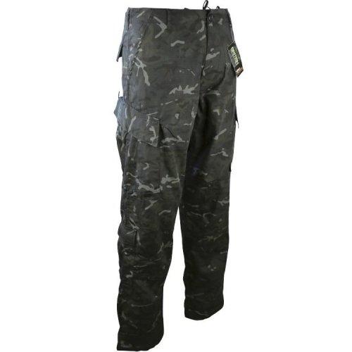 "Kombat Assault Trousers ACU Style BTP Black 30-32"" Small"