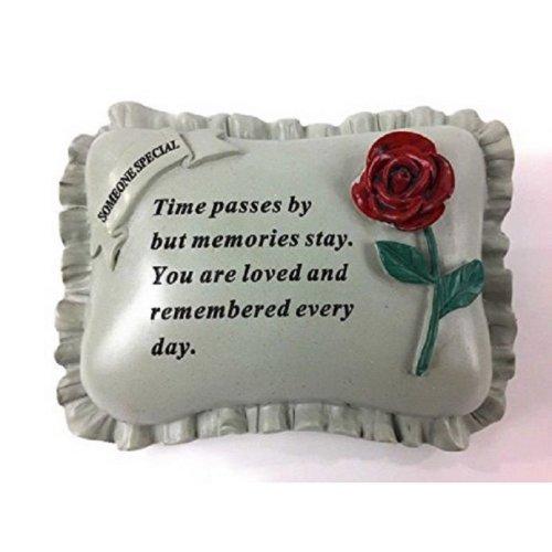 Someone Special Memorial Pillow  Memorial Grave or Garden Plaque