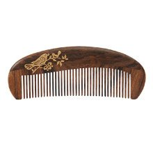 Premium Smooth Hair Comb Wooden Comb Anti-static Combs with Case