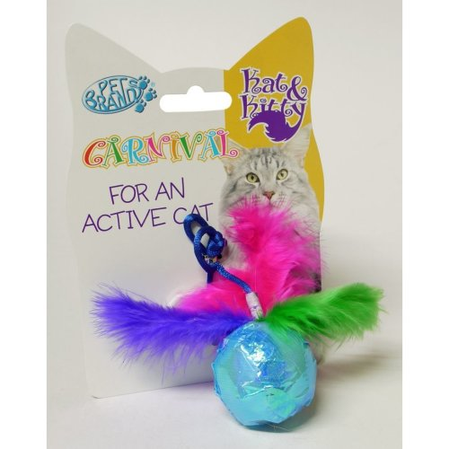 Ball Toy With Feathers