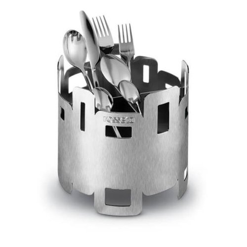 Rosseto D42577 Round Stainless Steel Cutlery Holder