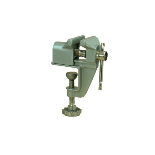 Small Strong & Light Fixed Table Vice -  vice bench mini modelcraft pvc7002