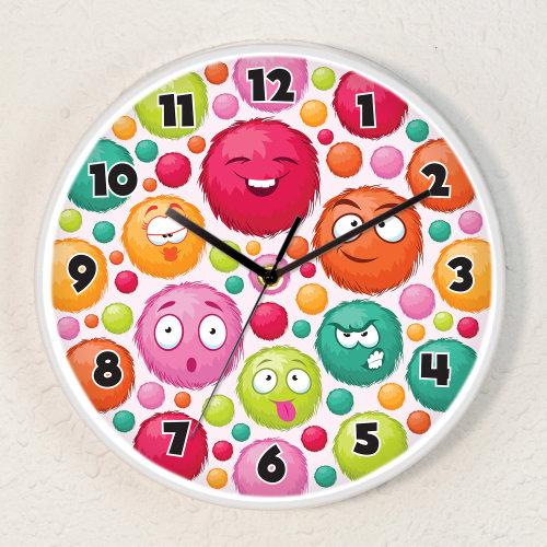 Fuzzies Children Room Wall Clock