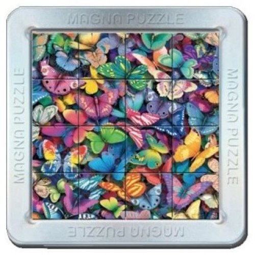 3d Magna Butterflies Magnetic Jigsaw Puzzle (16 Pieces)