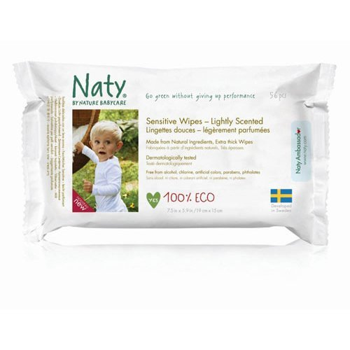 Nature Baby  Sensitive Wipes - Lightly Scented 390g