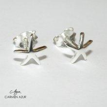 925 Sterling Silver Stud Earrings, Starfish Design