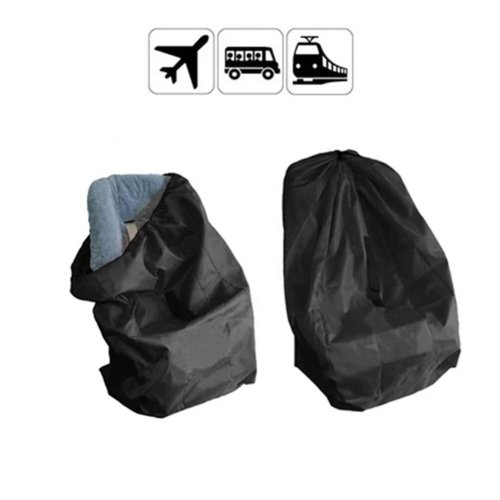 Yuccer Infant Car Seat Travel Bag Gate Check Travel Bags Protector With Strap For Airplane Black