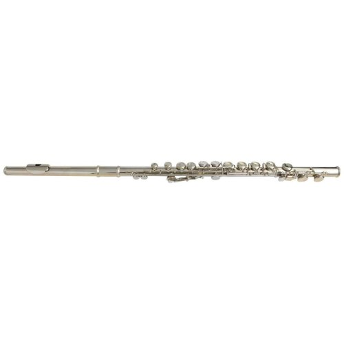 vidaXL Silver Flute with Soft Case 16 Holes